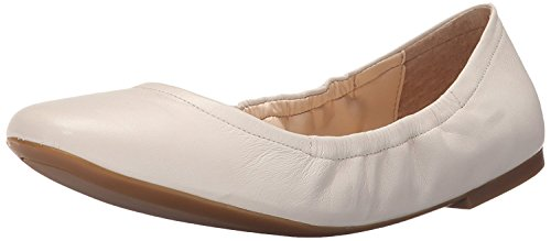 Nine West Women's Girlsnite Leather Ballet Flat, Off White, 36.5 EU/4.5 UK
