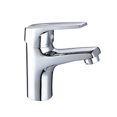 BAYTTER® Einhebelmischer Einhebel Waschbeckenarmatur Küche Armatur Einhandmischer für Waschbecken Chrom Wasserhahn Spültisch