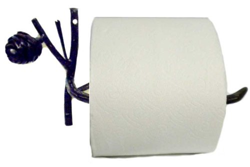 Rustic Pinecone Toilet Tissue Holder