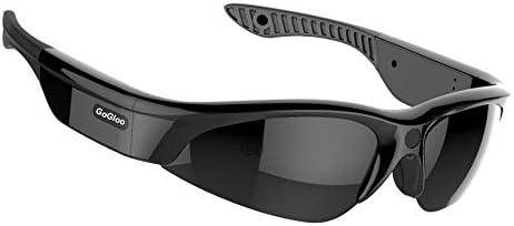 Gogloo H.264 MP4 1080P HD Sport Polarized Sunglasses with Video Camera DV, Smart Camera Sunglasses Black, 1080P 30fps, 90degree