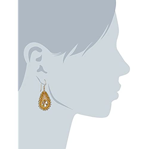 Miguel Ases Topaz Hydro Quartz and Swarovski Delicate Teardrop Earrings