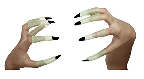 Demarkt Glow Witch Ghost Finger Nail Gloves for Halloween Cosplay Ball Party (Halloween Witch Nails)