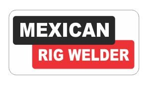 (3) Mexican Rig Welder Mexico Funny Hard Hat / Helmet Stickers