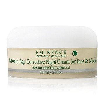 Crème Eminence Monoï âge correcteur nuit pour le visage et cou - 2fl once