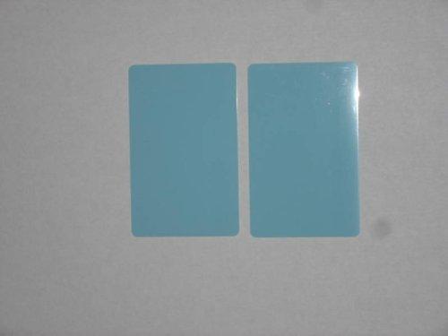 100 Blank PVC Plastic Photo ID Lt Blue Credit Card 30Mil