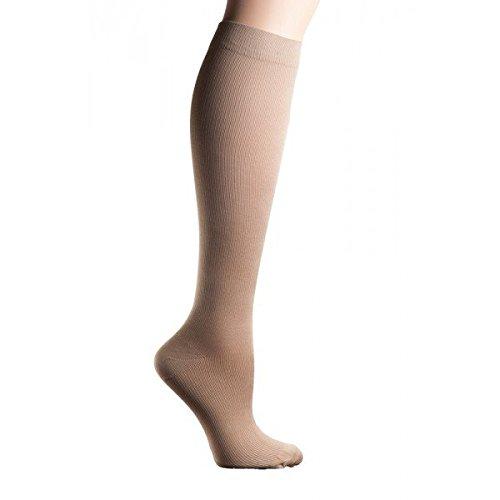 Flat knit compression socks