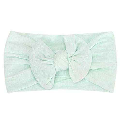 (NUWFOR 1Pc Cute Baby Toddler Infant Bowknot Headband Hairband Headwear(Mint Green,Free Size))
