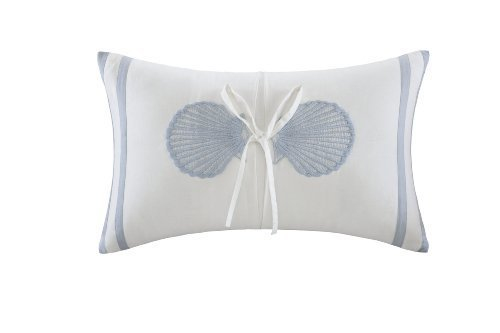 Harbor House Crystal Beach Oblong Pillow, White, 12 by 18-Inch by Harbor House