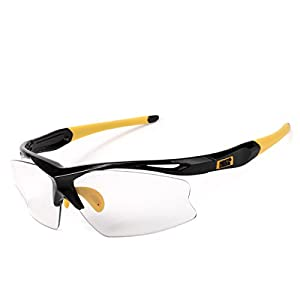 Sports Sunglasses, Photochromic Lenses, 100% UV400 protection, for Men & Women, Cycling Baseball Running Fishing Driving Golf Outdoor Activities, TR90 Unbreakable