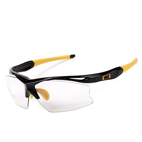 Sports Sunglasses for Men,100% UV400 Photochromic Lens Transition glasses,Unbreakable and Flexible TR90 Frame,for - Sunglasses Transitions