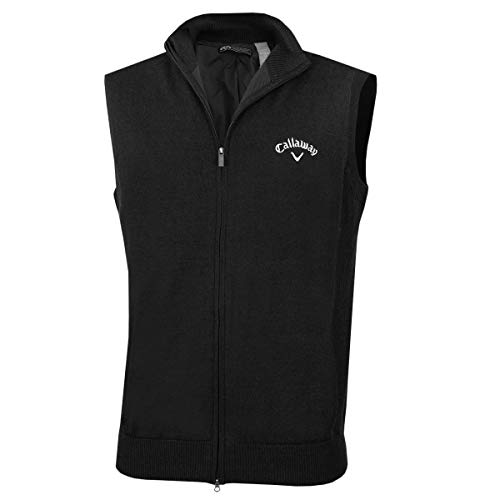 Callaway 2017 Mens Golf Full Zip Windstopper Vest Thermal Sweater 010 Medium ()