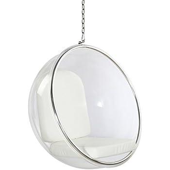 Fine Mod Imports FMI1122 White Bubble Hanging Chair, White
