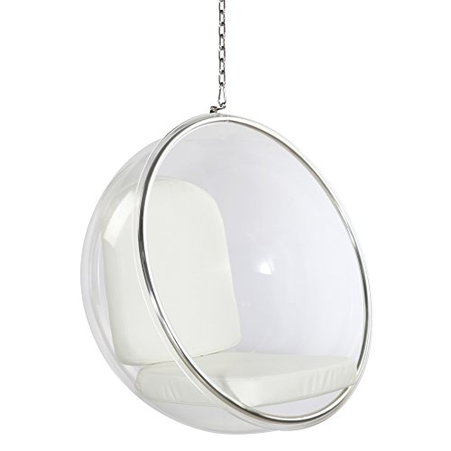 Fine Mod Imports FMI1122-white Bubble Hanging Chair, White
