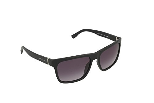 BOSS by Hugo Boss Men's B0727s Wayfarer Sunglasses, Matte Black/Gray Gradient, 56 - Sunglasses Hugo Boss