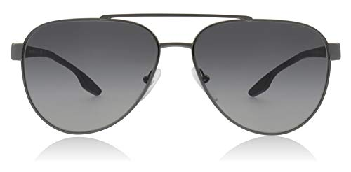 Prada Linea Rossa Men's 0PS 54TS Gunmetal/Grey Rubber/Light Grey Gradient One Size (Prada Sonnenbrille Unisex)
