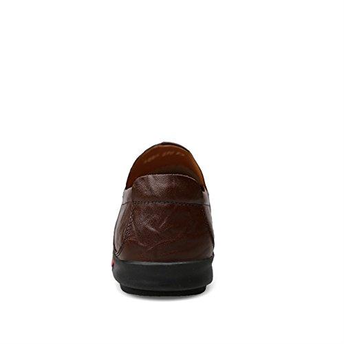 Studio Homme Chaussures SK Cuir 1 pour Enfiler Mocassins Marron Foncé en 6Uwxqx4d0