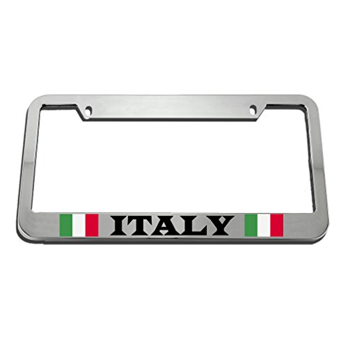 Speedy Pros Italy Italian Italiano Flag License Plate Frame Tag Holder by Speedy Pros