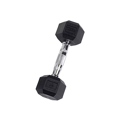 Rubber Coated Hex Dumbbell 8 lb.
