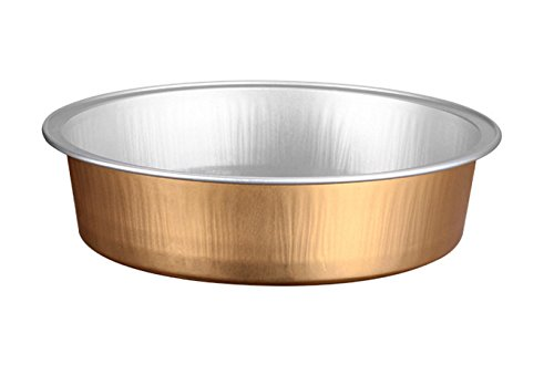KEISEN 4 2/3'' 1000/PK Disposable Aluminum Foil Cups 215ml for Muffin Cupcake Baking Bake Utility Ramekin Cup (gold) by Keisen