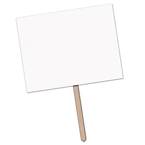"Beistle""Blank"" Yard Sign, 12"" x 15"", White"
