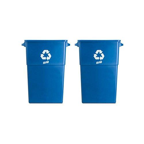 Genuine Joe Recycling Rectangular Container, 23 gallon Capacity, 22-1/2