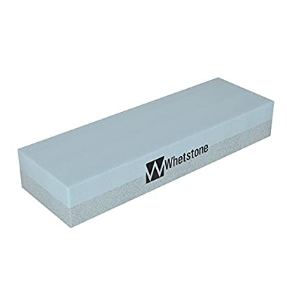 Whetstone Cutlery 20-10960 Knife Sharpening Stone-Dual Sided 400/1000 Grit Water Stone-Sharpener and Polishing Tool for Kitchen, Hunting and Pocket Knives or Blades by Whetstone 31biUQVdO8L