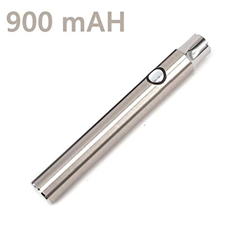 TriRanger USB Charger Pen Battery Variable Voltage - 900 mAh Double Capacity (Silver) (Best Vape Pen Battery For Cartridges)