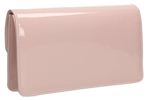 Pochette Donna Paris SwankySwans, pelle laccata, busta design Rosa (Pinky Nude)