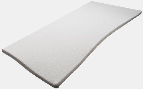 Pyramidenkönig 5cm Viscoelastische Matratzenauflage mit Bezug Milano Härte 3 Visco Auflage Topper Memory Matratze Gelschaum (180 x 200 cm)