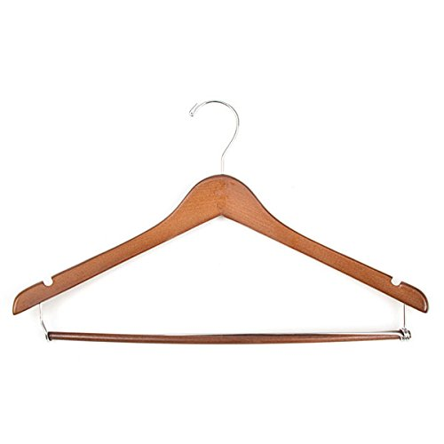 Pack of 100 New Contoured Cherry finish wooden suit hanger 17 inch by Hanger