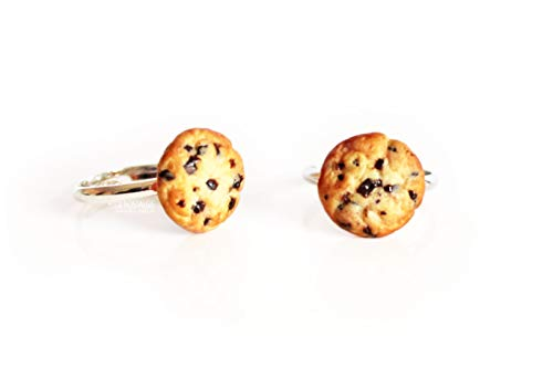 Chocolate Chip Cookie Stacking Ring Handmade Jewelry • La Nostalgie