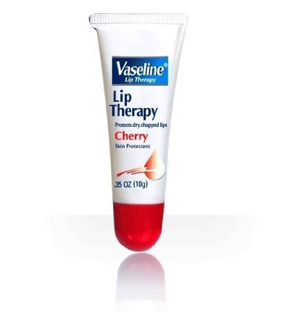 Vaseline Lip Therapy Tube, Cherry, 0.35-Ounce (Pack of 12)