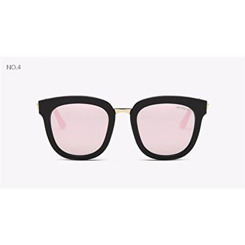 WANGMIN® Lunettes De Soleil Femmes Le Plus Récent De Luxe Marque Designer Alloy Temple Flat Lens Lunettes De Soleil Vintage With Box Uv400 , A