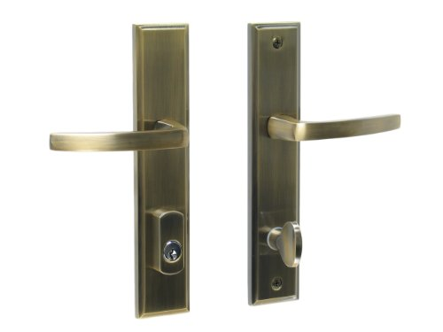 Catalina by FPL- Solid Brass Active Trim Only Lever Set for Multipoint Lock, Schlage Keyway, Antique Brass ()