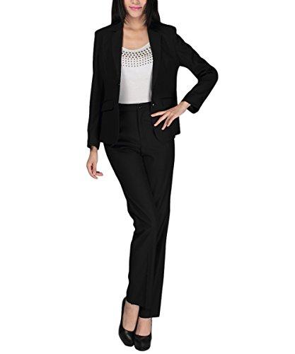 Ladies Suit (Women's 2 Piece Slim Fit Suits Set for Business Office Lady Blazer Jacket Pants)