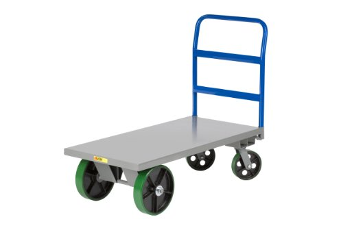 Little-Giant-DT-2448-S-12-Gauge-Steel-Heavy-Duty-Platform-Truck-with-Polyurethane-Wheels-4000-lbs-Capacity-48-Length-by-24-Width