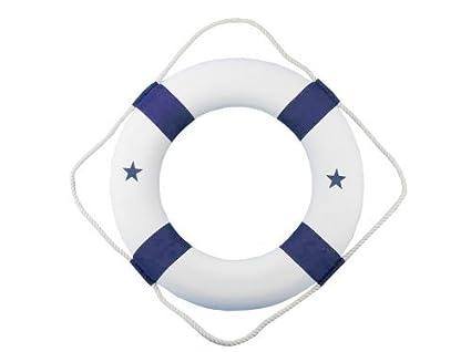 "Hampton Nautical  Lifering, 20"", Blue"