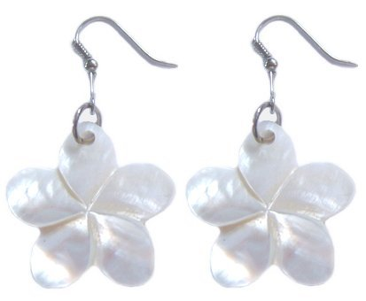 Hawaiian Jewelry White Plumeria Flower Shell (Hawaiian Shell Jewelry)