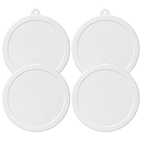 Corelle White Plastic Storage Lid (4) (Dinnerware White Corelle French)