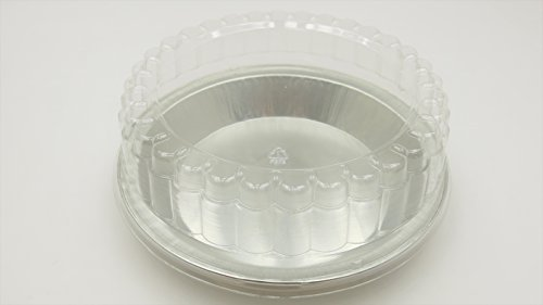 9'' Heavy Disposable Aluminum Pie Pans w/ Choice of High Dome or Low Dome Lids. Made by HFA #409DL (100, W/ Low Dome Lids) by Handi-Foil (Image #2)