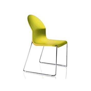 Magis N ° 6 sillas apilables Aida Chair Color Amarillo: Amazon.es: Hogar