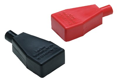 WG Red and Black Clamp On Type Battery Terminal Cover Boots ()