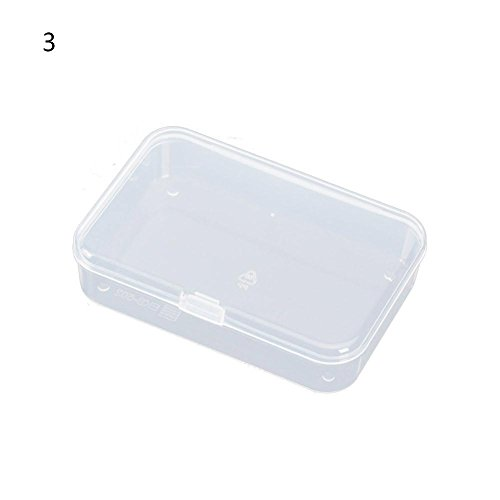 BleuMoo 1Pc Transparent Plastic Storage Box Clear Square Multipurpose Display Box 3# (Cleaner Transparent Plastic)