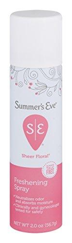 Summer's Eve Freshening Spray | Sheer Floral| 2 oz Size | Pack of 6 | pH Balanced, Dermatologist & Gynecologist Tested