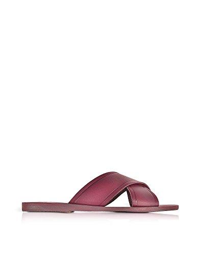 Ancient Greek Sandals Femme THAISRASPBERRY Bordeaux Cuir Sandales