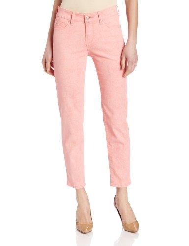 NYDJ Women's Petite Alisha Fitted Ankle Marigold Jeans, Sherbet, 10 Petite