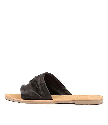Womens Black Leather Black Sandals Leather Summer MOLLINI Thea Black Flat Sandals HqCpIfnxw