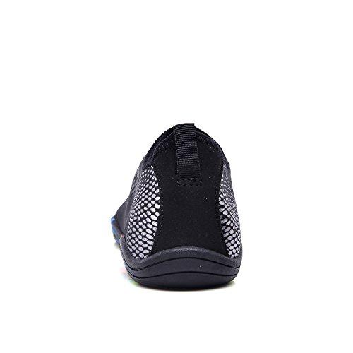 Lekuni silver Colorées Plongée Séchage Nager Hommes D'eau Unisexe Enfants Respirants Rapide Yw Les Sports Chaussures Semelles Plage Tous Femmes p1UrxpqCwn
