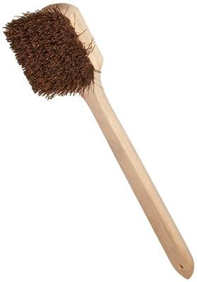 "Weiler 72101 Utility Scrub Brush, Palmyra Fill, Wood Block, 20"" Length"
