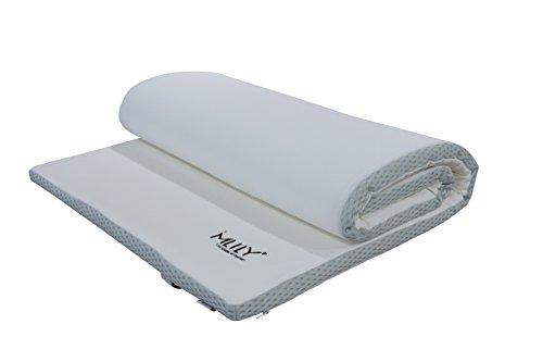 Mlily Ebitop Ebi - A 90.4 Traum-Schlaf Visko-Matratzenauflage, Matratzenauflagen, Auflage, viscoelastische Topper 90x200x4 cm, weiß